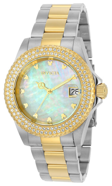 Invicta Women's 22732 Disney Quartz 3 Hand White Dial Watch