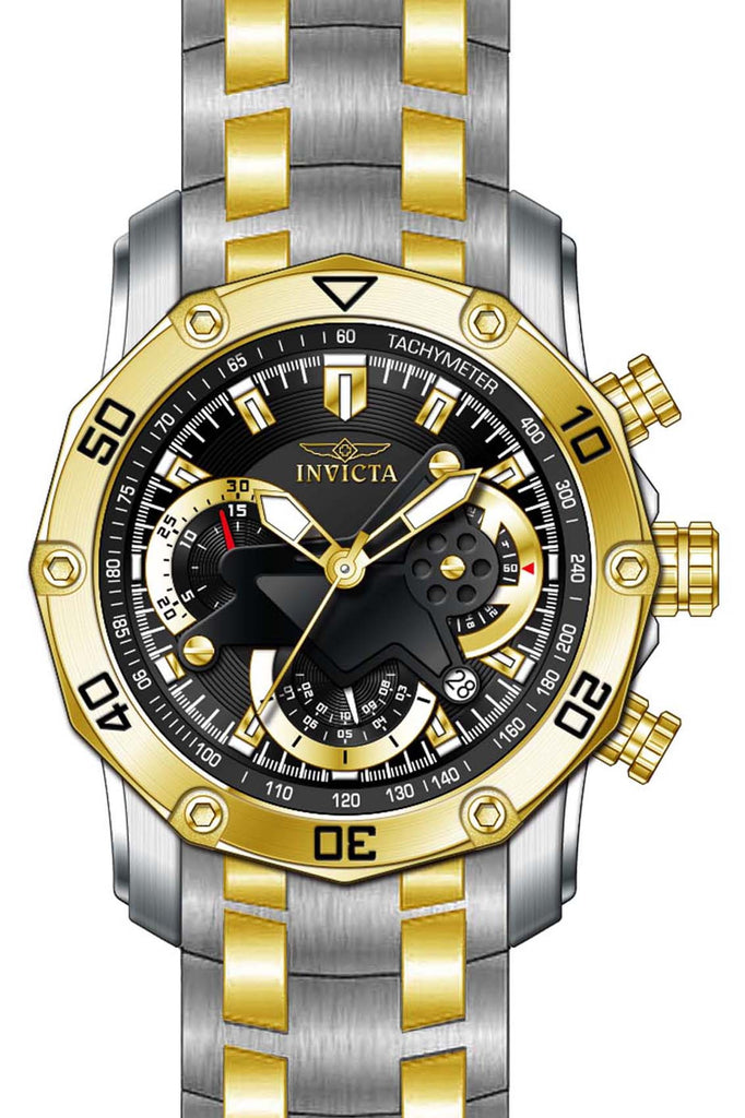 Invicta Men's 22768 Pro Diver Quartz Multifunction Black Dial Watch