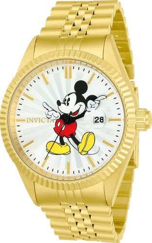 Invicta Men's 22770 Disney Quartz 3 Hand Silver Dial Watch