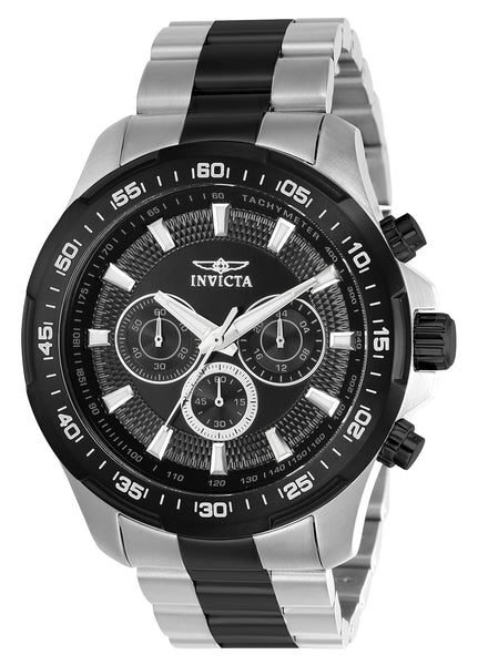Invicta Men's 22784 Speedway Quartz Multifunction Black Dial Watch