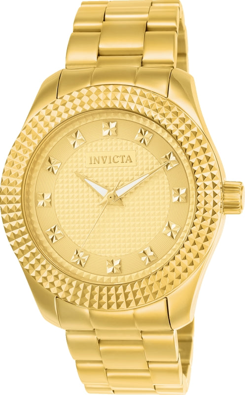 Invicta Men's 22795 Specialty Quartz 3 Hand Gold Dial Watch