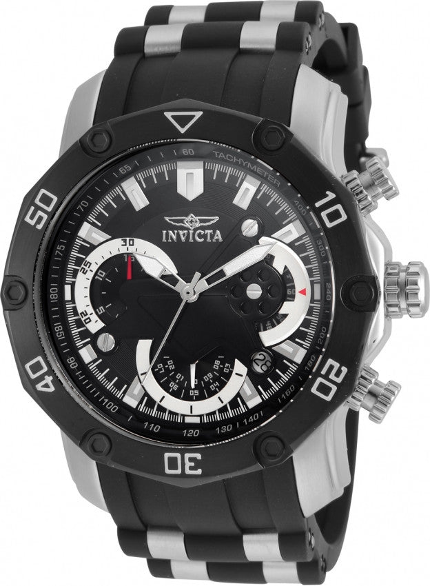 Invicta Men's 22797 Pro Diver Quartz 3 Hand Black Dial Watch