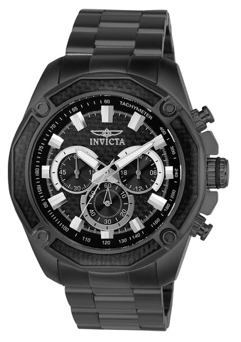 Invicta Men's 22807 Aviator Quartz Chronograph Black Dial Watch