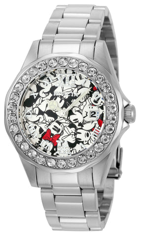 Invicta Women's 22872 Disney Quartz 3 Hand Black, Red, White Dial Watch
