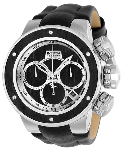 Invicta Men's 22939 Reserve Quartz Multifunction Black Wood, Silver Dial Watch