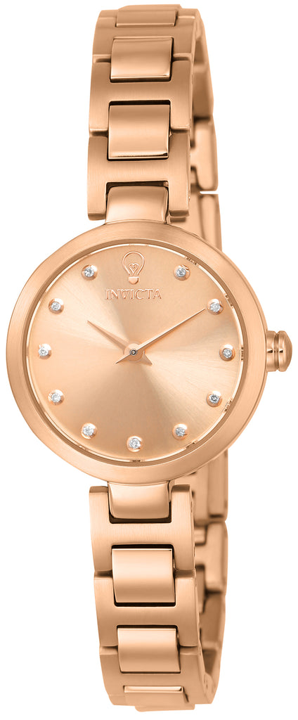 Invicta Women's 22950 Gabrielle Union Quartz 3 Hand Rose Gold Dial Watch