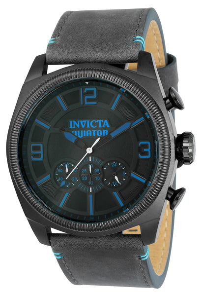 Invicta Men's 22987 Aviator Quartz Multifunction Black Dial Watch
