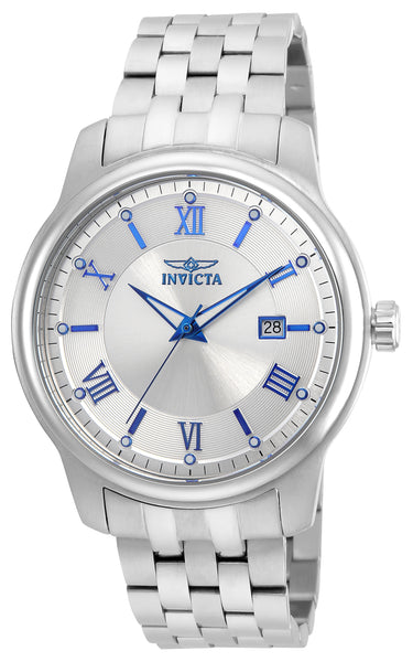 Invicta Men's 23010 Vintage Quartz 3 Hand Silver Dial Watch