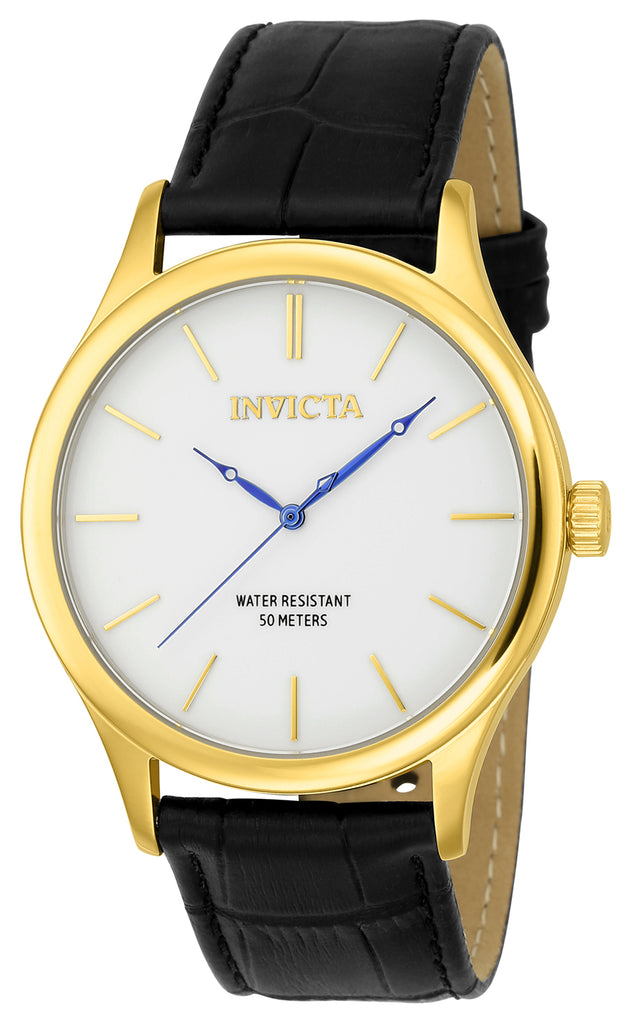 Invicta Men's 23024 Vintage Quartz 3 Hand White Dial Watch