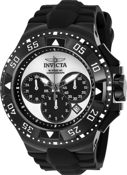 Invicta Men's 23040 Excursion Quartz Chronograph Silver, Black Dial Watch