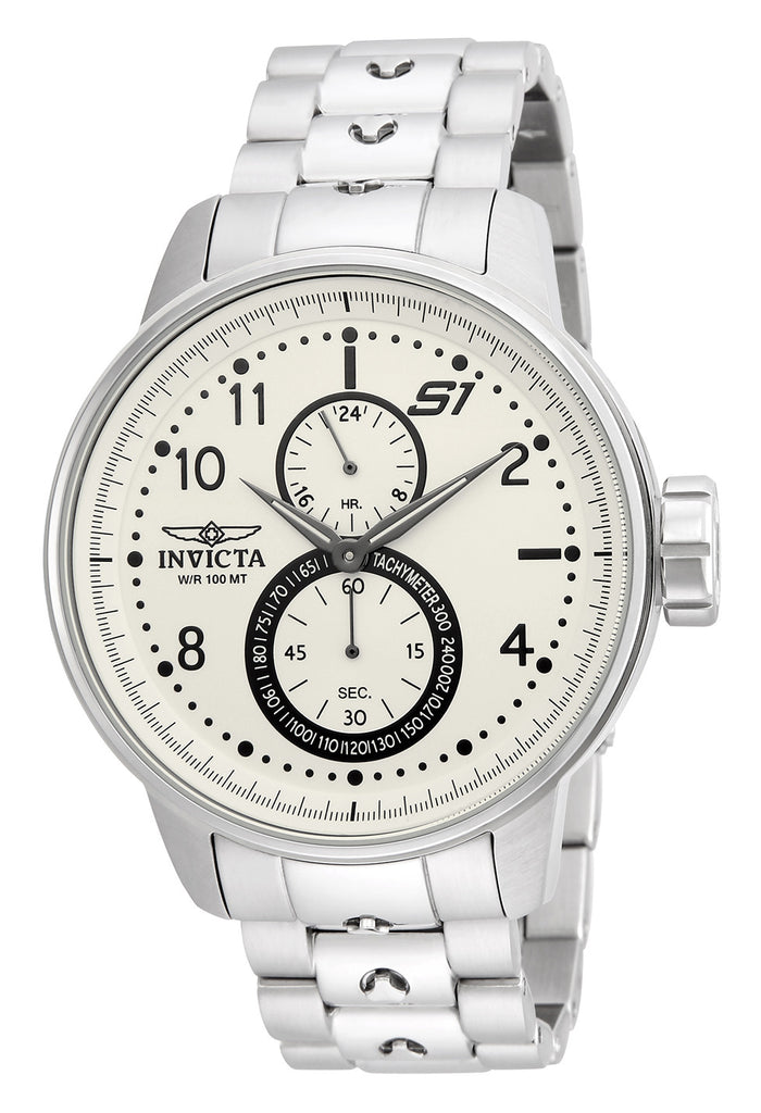 Invicta Men's 23058 S1 Rally Quartz Multifunction Ivory Dial Watch