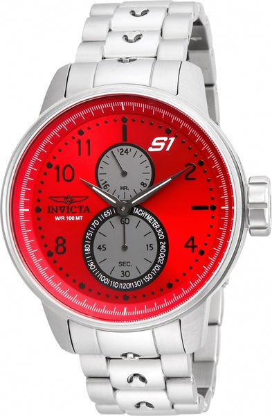 Invicta Men's 23061 S1 Rally Quartz Multifunction Red Dial Watch