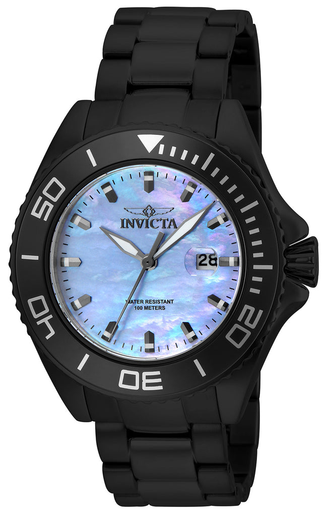 Invicta Men's 23069 Pro Diver Quartz 3 Hand Platinum Dial Watch