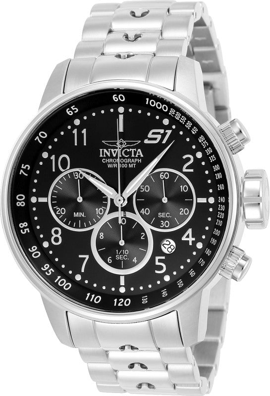 Invicta Men's 23079 S1 Rally Quartz Multifunction Black Dial Watch