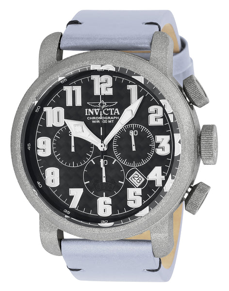 Invicta Men's 23092 Aviator Quartz 3 Hand Black Dial Watch
