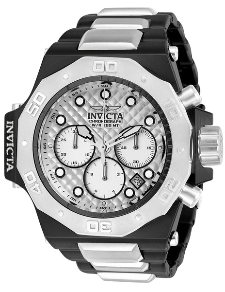 Invicta Men's 23098 Akula Quartz Chronograph Silver Dial Watch
