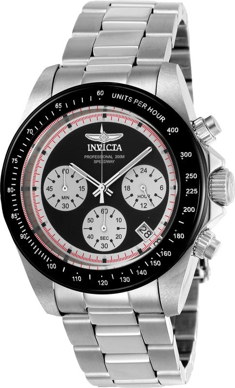 Invicta Men's 23120 Speedway Quartz Chronograph Black Dial Watch