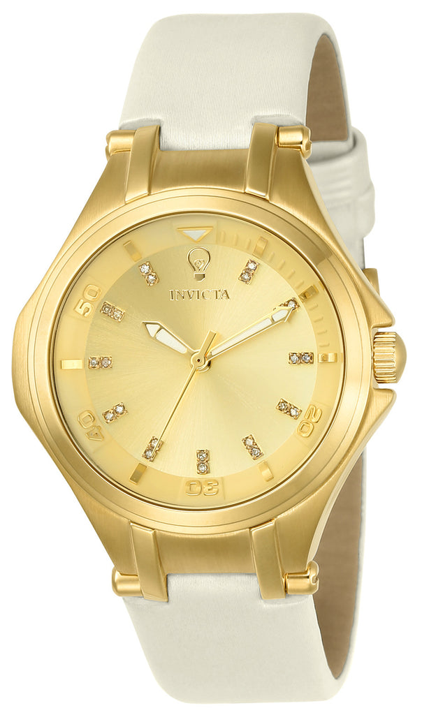 Invicta Women's 23251 Gabrielle Union Quartz 3 Hand Gold Dial Watch