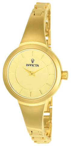 Invicta Women's 23317 Gabrielle Union Quartz 3 Hand Gold Dial Watch
