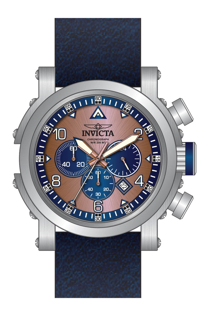Invicta Men's 23366 I-Force Quartz Chronograph Rose Gold, Blue Dial Watch