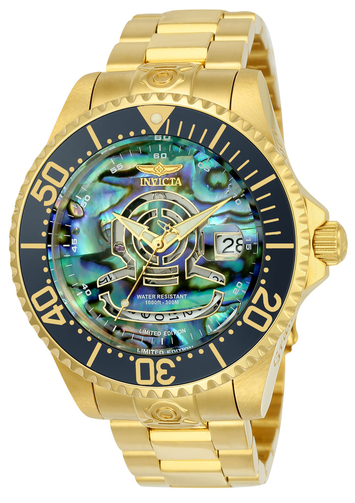 Invicta Men's 23454 Pro Diver Automatic 3 Hand Blue, Green Dial Watch