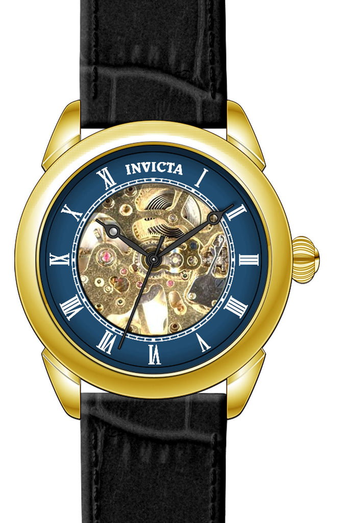 Invicta Men's 23536 Specialty Mechanical 3 Hand Blue Dial Watch