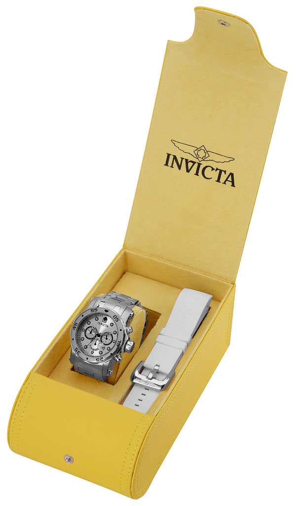 Invicta Men's 23649 Pro Diver Quartz Chronograph Silver Dial Watch