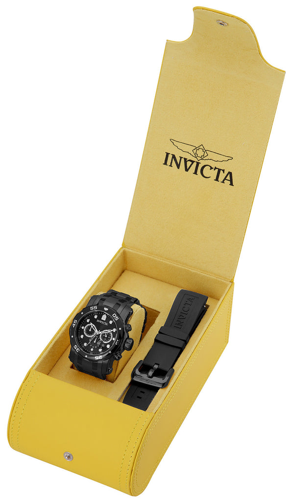 Invicta Men's 23654 Pro Diver Quartz Chronograph Black Dial Watch
