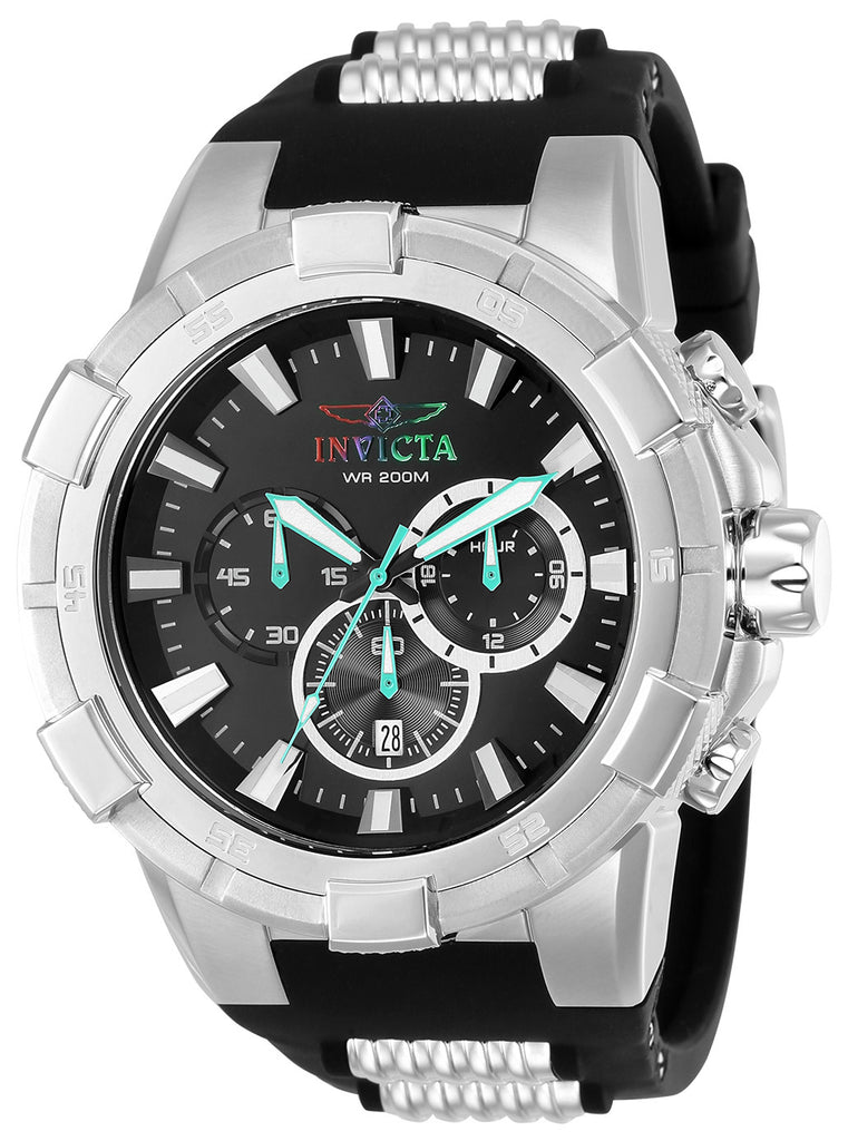 Invicta Men's 23692 Aviator Quartz Multifunction Black Dial Watch