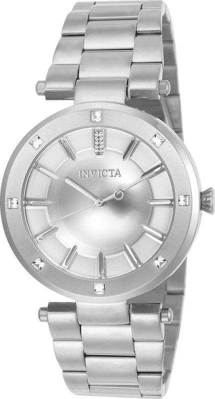 Invicta Women's 23726 Angel Quartz 3 Hand Silver Dial Watch