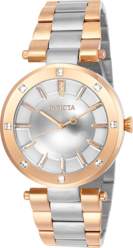 Invicta Women's 23727 Angel Quartz 3 Hand Silver Dial Watch