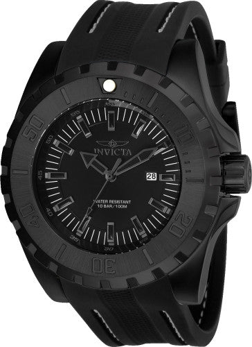Invicta Men's 23734 Pro Diver Quartz 3 Hand Black Dial Watch