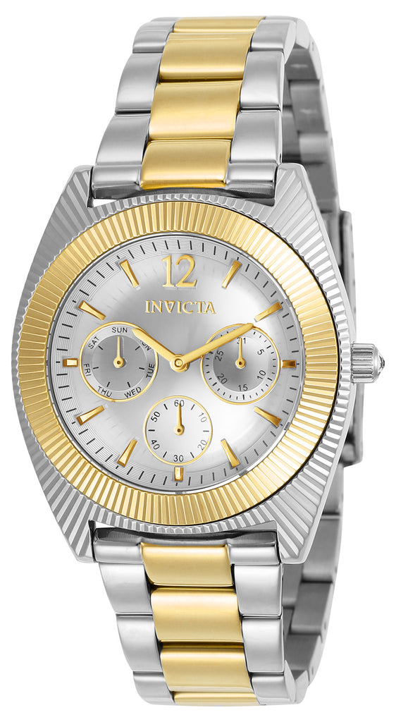 Invicta Women's 23752 Angel Quartz Chronograph Silver Dial Watch