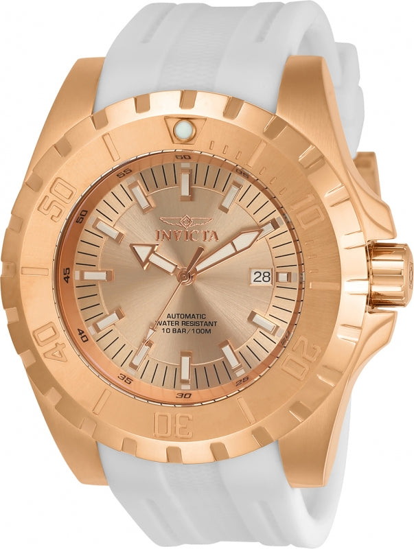 Invicta Men's 23803 Pro Diver Automatic 3 Hand Rose Gold Dial Watch