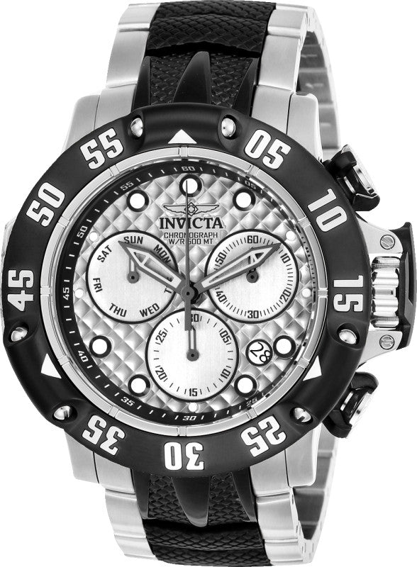Invicta Men's 23804 Subaqua Quartz Chronograph Silver Dial Watch