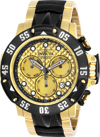 Invicta Men's 23805 Subaqua Quartz Chronograph Gold Dial Watch