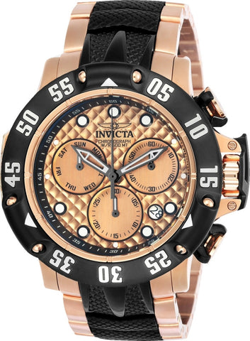Invicta Men's 23806 Subaqua Quartz Chronograph Rose Gold Dial Watch