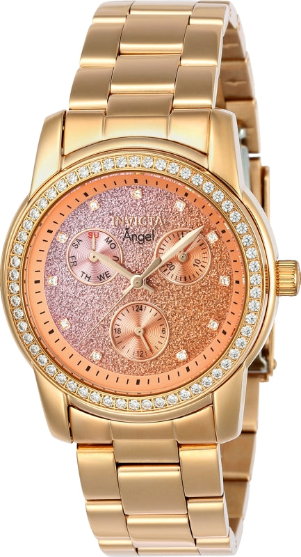Invicta Women's 23823 Angel Quartz Chronograph Purple, Sand Dial Watch