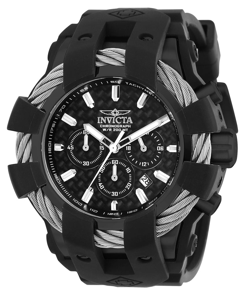 Invicta Men's 23863 Bolt Quartz Chronograph Black Dial Watch