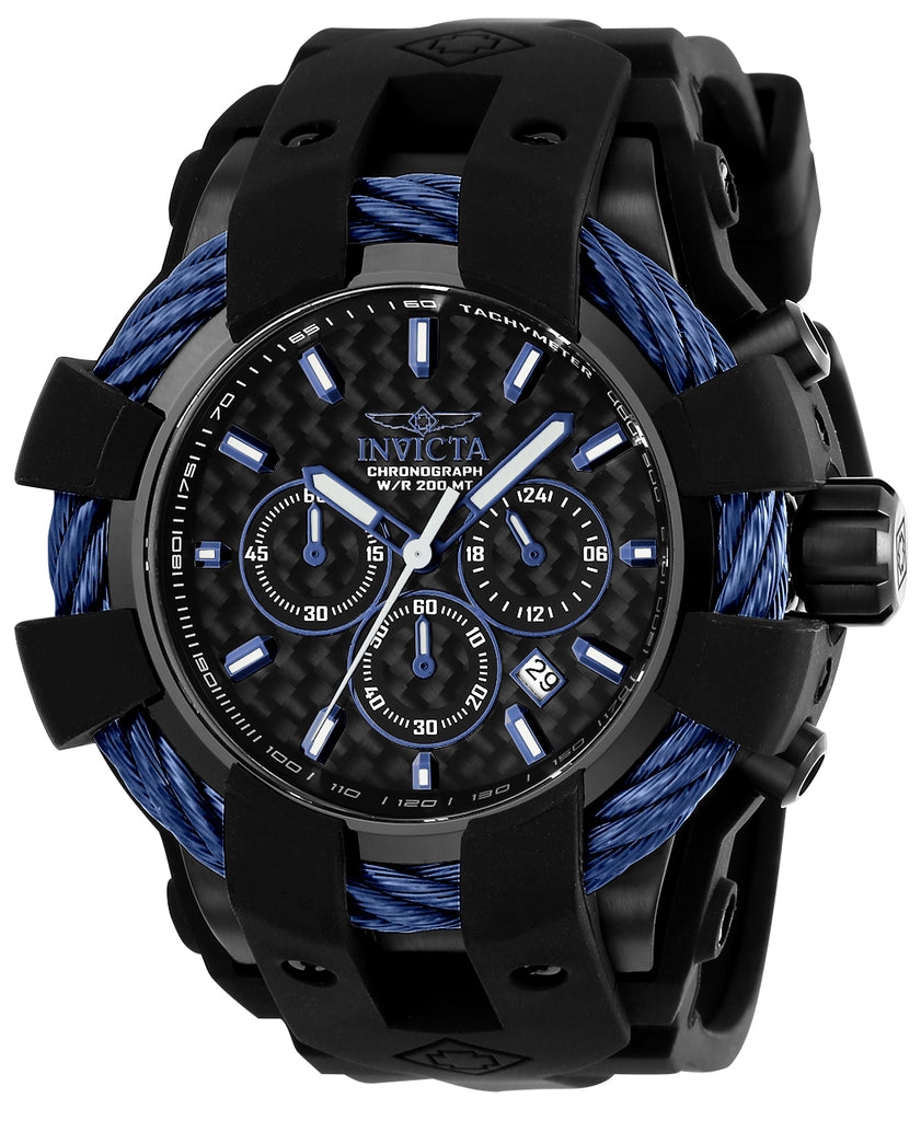 Invicta Men's 23868 Bolt Quartz Chronograph Black Dial Watch