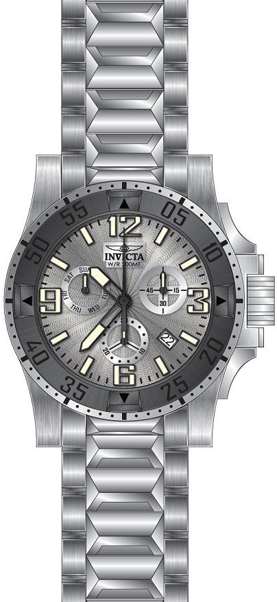 Invicta Men's 23901 Excursion Quartz Chronograph Silver Dial Watch