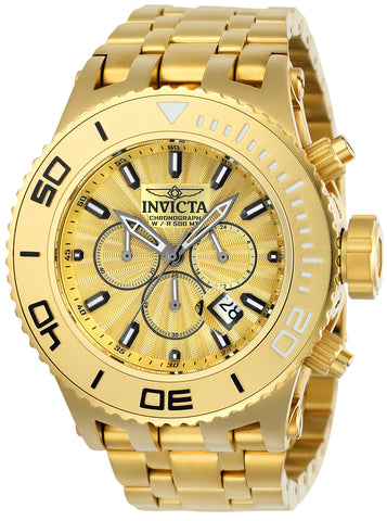 Invicta Men's 23935 Subaqua Quartz Chronograph Gold Dial Watch