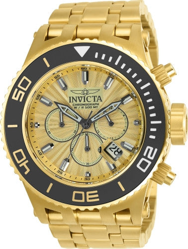 Invicta Men's 23937 Subaqua Quartz Chronograph Gold Dial Watch