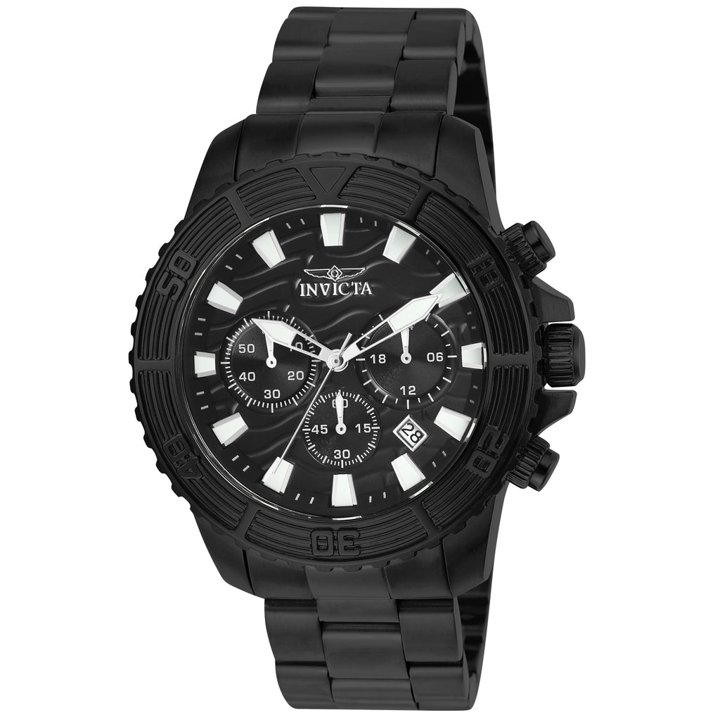 Invicta Men's 24005 Pro Diver Quartz Multifunction Black Dial Watch