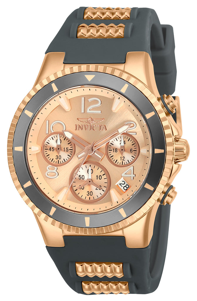 Invicta Lady 24189 BLU Quartz Chronograph Rose Gold Dial Watch