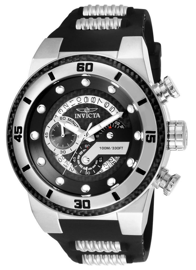 Invicta Men's 24221 S1 Rally Quartz Multifunction Black Dial Watch