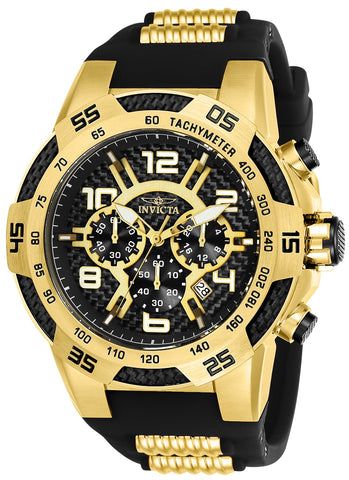 Invicta Men's 24233 Speedway Quartz Multifunction Black Dial Watch