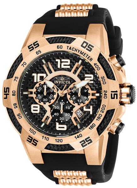 Invicta Men's 24234 Speedway Quartz Multifunction Black Dial Watch
