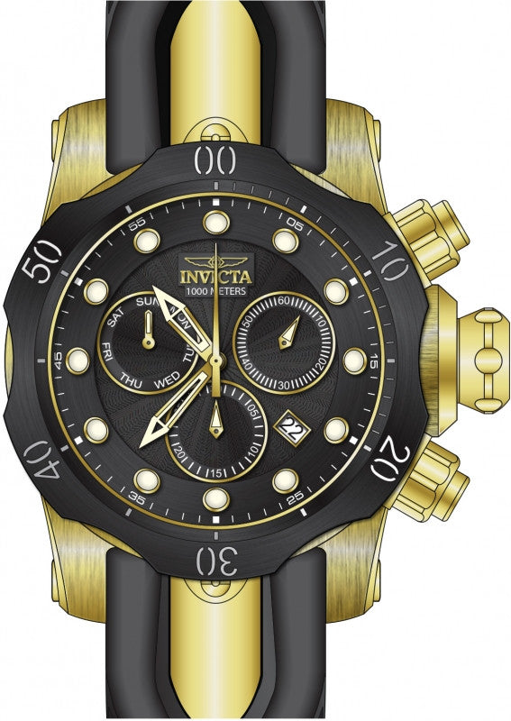 Invicta Men's 24257 Venom Quartz Chronograph Black Dial Watch