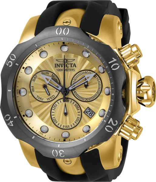 Invicta Men's 24258 Venom Quartz Chronograph Gold Dial Watch